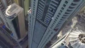 سقوط آزاد از بلندترین برج دبی
