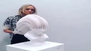 مجسمه ی پارچه ای