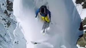 اسکی خطرناک از نوک بلندترین قله