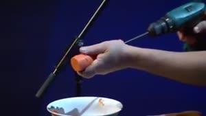 خلاقیت نی لبک زدن با هویج