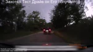 نمای تصادف از داخل ماشین