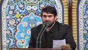 مداحی حماسی حاج محمد باقر منصوری در محضر رهبری ۹۶