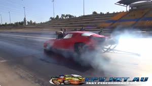 از دست دادن کنترل ماشین در مسابقه درگ