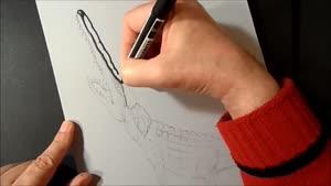 کشیدن نقاشی سه بعدی روی کاغذ