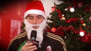 تبریک بازیکنان میلان برای کریسمس