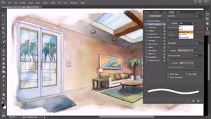 آموزش طراحی یک فضای داخلی در فتوشاپ قسمت ۱۴