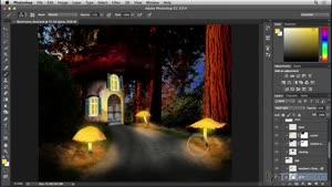 آموزش فتوشاپ - ساخت خانه قارچی - قسمت ۱۹