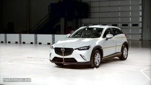 تست تصادف Mazda CX-3 side IIHS