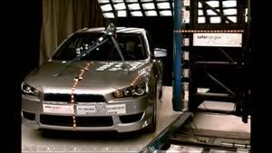 تست تصادف Mitsubishi Lancer