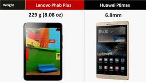 مقایسه تبلت Lenovo Phab Plus vs Huawei P۸max