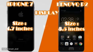 Apple Iphone ۷ vs Lenovo p۲