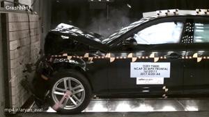 تست تصادف Audi A4