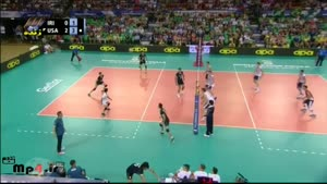 ایران ۰ - آمریکا ۳ ست سوم لیگ جهانی ۲۰۱۴