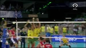 بازی برزیل ۱ - ۳ آمریکا فینال ست دوم