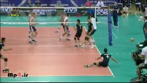 ایران ۰ - آمریکا ۳ ست اول لیگ جهانی ۲۰۱۴