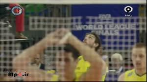 برزیل ۳ -ایتالیا ۰ ست اول لیگ جهانی ۲۰۱۴