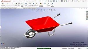 اموزش نرم افزار سالیدورک- solidworks-طراحی مدل فرغون