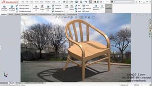 اموزش نرم افزار سالیدورک- solidworks-طراحی صندلی