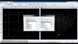 آموزش فشرده ETABS برای انجام پروژه سازه های فولادی