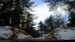 لندکروز در برف و یخبندان