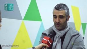 پژمان جمشیدی بازیگر و فوتبالیست سابق به باغ کتاب تهران رفت تا فیلم سوءتفاهم را کنار مردم به تماشاکند