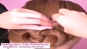 یک مدل زیبا برای جمع کردن مو