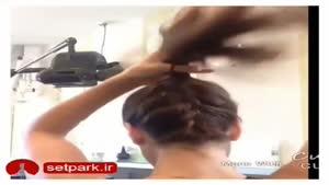 آموزش آرایش مو مانند یک آرایشگر