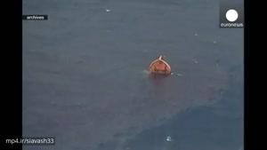 فیلم غرق شدن نفت کش