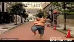 دویدن مرد چاق