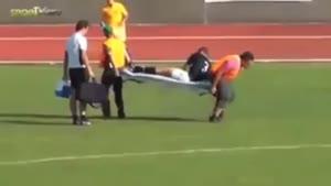 انتقال مصدومان فوتبال.ته خنده