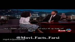 یارا شهیدی بازیگر ایرانی آمریکایی در تاک شو جیمی کیمل و صحبت در مورد ایران و عید نوروز
