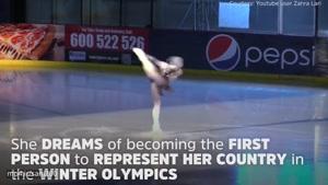 زن محجبه اسکی باز با هدف حضور در المپیک زمستانی