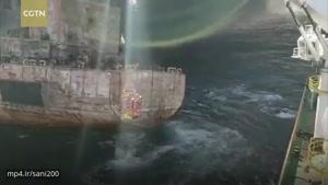 انتقال دو پیکر از ملوانان ایرانی نفتکش ایرانی
