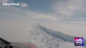 جدا شدن یک یخکوه بسیار بزرگ از قطب جنوب