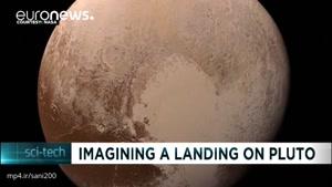 لحظه فرود فضاپیمای ناسا روی پلوتون