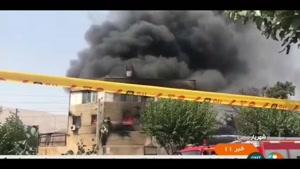 آتش سوزی در واحد صنعتی شهریار