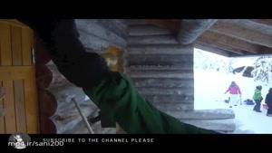 یخ زدن حباب در سرمای ۲۶ درجه زیرصفر کانادا