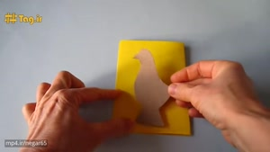 آموزش درست کردن خروس با مقوا و کاغذ رنگی