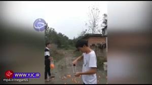 توانایی حیرت انگیز جوان چینی در تیراندازی