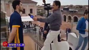 مشکلات حمید معصومی نژاد حین مصاحبه با محمدجواد معنوی نژاد