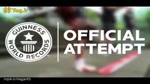 رکورد گینس برای پایین آمدن سریع از پله برروی دست