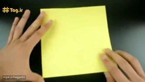 آموزش درست کردن موز کاغذی با تکنیک اوریگامی