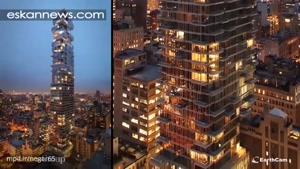 تایملپس احداث آسمانخراش ۵۶ Leonard در نیویورک