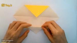آموزش درست کردن شیر با کاغذ رنگی و تکنیک اوریگامی