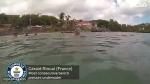 رکورد وزنه زدن زیر آب