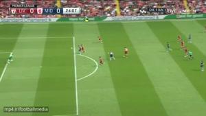 خلاصه بازی لیورپول ۳-۰ میدلزبورو (لیگ برتر)