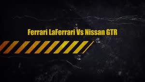 درگ فراری لافراری با نیسان GTR