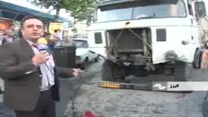 کامیون فرسوده ۶ خودرو را نابود کرد.