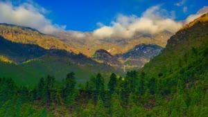 تایم لپس نمای زیبای از طبیعت کوهستانی