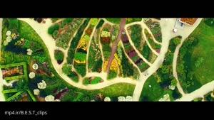فیلمبرداری هوایی از باغ بسیار زیبا